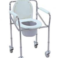 Esco Mobile Folding Commode - Chrome Steel Malaysia | JH Pharmex