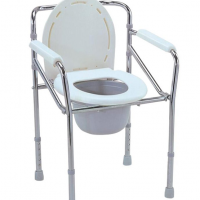 Esco Folding Commode - Chrome Steel Malaysia | JH Pharmex