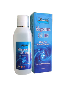 Magnesium Oil 108 - Ultra Pure Mineral Therapy 100ml Malaysia | JH Pharmex helps in balancing calcium, injuries recovery & relieve muscle spasms & cramps