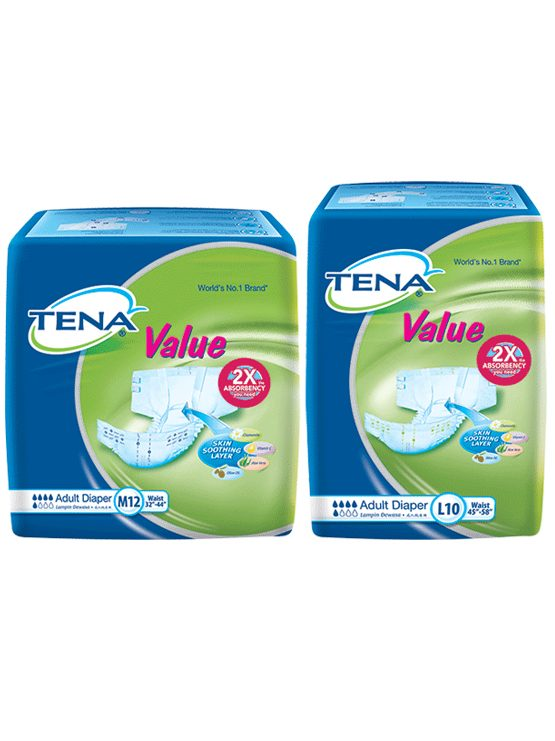 Tena Value Adult Diaper Malaysia - Open Diaper | JH Pharmex