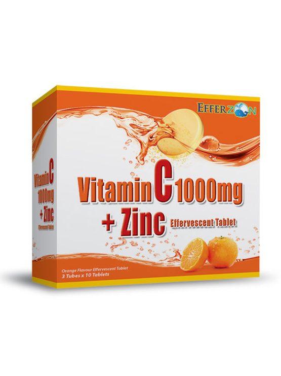 Efferzon Vitamin C 1000mg + Zinc Effervescent Tablet | JH Pharmex