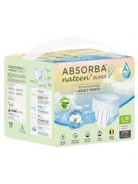 Absorba Nateen Super Pull Up Pants Adult Diapers | JH Pharmex 2