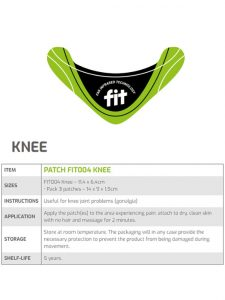 Fit Therapy Patch for Knee | JH Pharmex 1