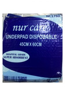 Nur Care Underpad Disposable 45cm x 60cm - 20's | JH Pharmex