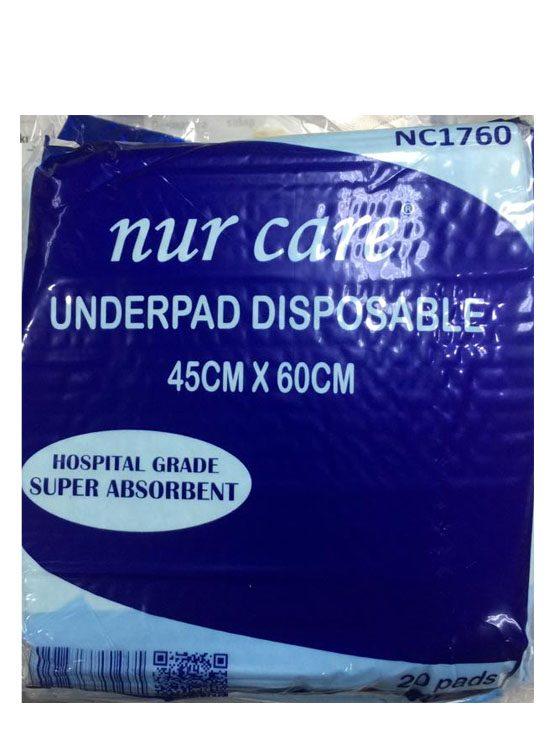 Nur Care Underpad Disposable 45cm x 60cm - 20's | JH Pharmex