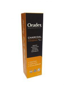 Oradex Charcoal Cinnamon Whitening Toothpaste - 120g | JH Pharmex
