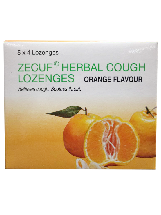 Zecuf Herbal Cough Lozenges - Orange (5x4's) | JH Pharmex