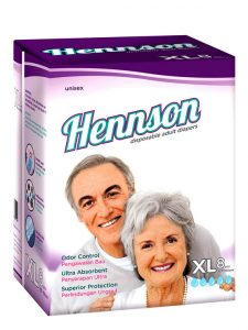 Hennson Disposable Adult Diapers XL (8 pcs) | JH Pharmex