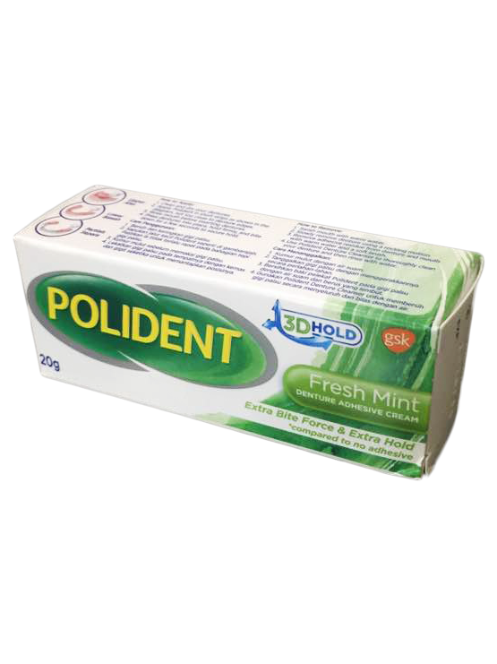 Secure Denture Adhesive >> POLIDENT Fresh Mint Denture Adhesive Cream   JH Pharmex