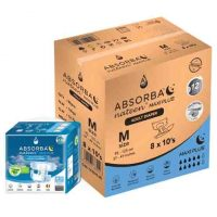 ABSORBA Nateen Maxi Plus M Adult Diapers 8 x 10's | JH Pharmex