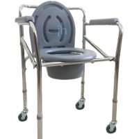 YM Care Mobile Folding Commode Chair | JH Pharmex